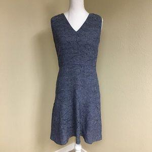 Elie Tahari Floral Denim Dress